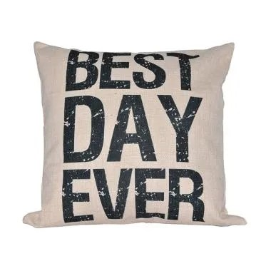 Hermosa Home Decor Best Day Ever Bantal Sofa [45 x 45 cm]