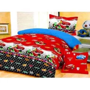 Jaxine Motif Cars Katun Set Sprei dan Bed Cover