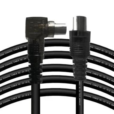 Kitani Tv 5C-2V 2 Mtr Kabel Antena [PAL Plug Male To Male]