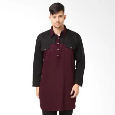 Zayidan Shauqi Baju Gamis Muslim Pria - Maroon