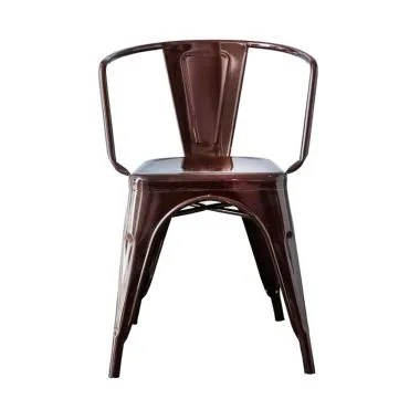The Olive House Decafe Metal Chair - Brown