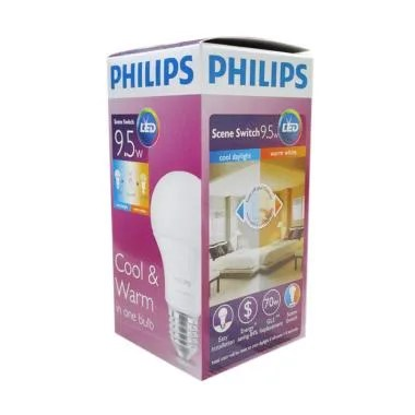 PHILIPS Cool & Warm Bohlam Lampu LED [9.5 W]