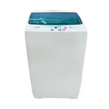 SHARP ESG865PG Mesin Cuci - Putih Hijau [Top Loading/6 kg]