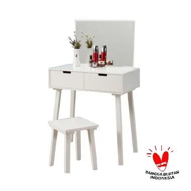 The Olive House Hera 2 Drawer Console Tanpa Kursi