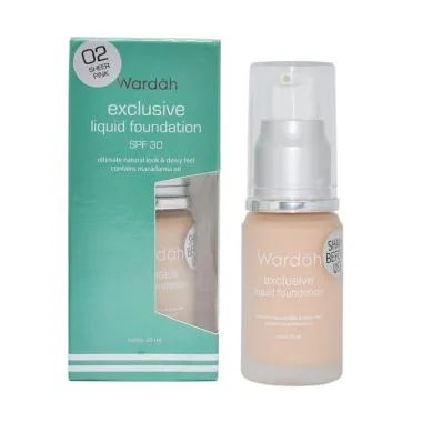 Wardah Exclusive Liquid Foundation 02 Sheer Pink - 20ml
