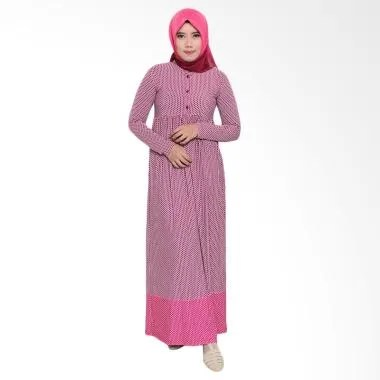 Zoya Fashion Inner Ummi Stripe Dress Muslim - Fanta