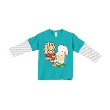 Afrakids AF151 Use Right Hand Please Kaos Anak Muslim - Tosca