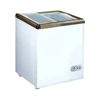 RSA XS 110 Sliding FLat Glass Chest Freezer - Putih [100 L]