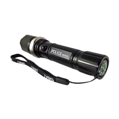Police SWAT Flashlight Rechargeable Senter Multifungsi