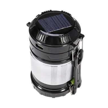Miibox SX-9599 Lentera Camping Tenaga Solar Emergency Lamp - Black