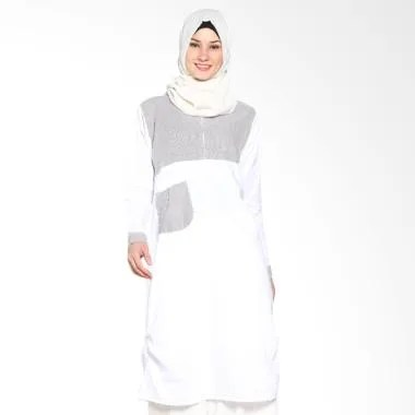Chick Shop Unique Plain CO-78a-04-CP Dress Moslem - Brown White