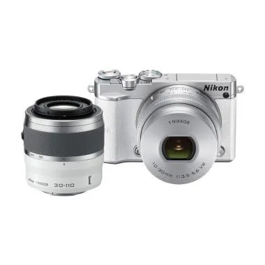 Nikon 1 J5 Kit 10-30mm with 30-110m ... Kamera Mirrorless - White