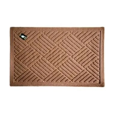 Dixon Motif Welcome Criss Cross Keset Outdoor - Coklat [40 x 60 cm]