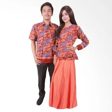 Batik Putri Ayu Solo SRG109 Batik Sarimbit - Orange