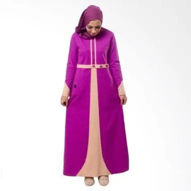 Believe AG-03 Baju Muslim Modern Hi ... Gamis Dress Kaos - Purple
