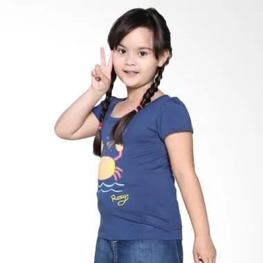 Roxy Kids Basic Crew Ruffle ID K Tees BPZ0 Pakaian Anak Perempuan