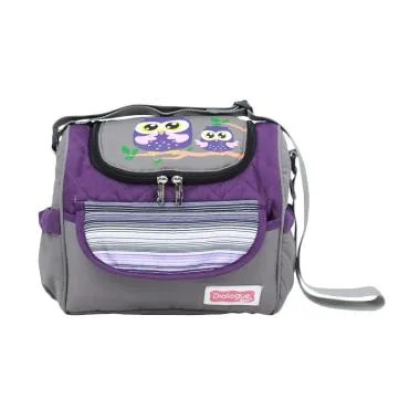 Dialogue Baby Tas Medium + Tempat Botol Susu Owl Series - Ungu