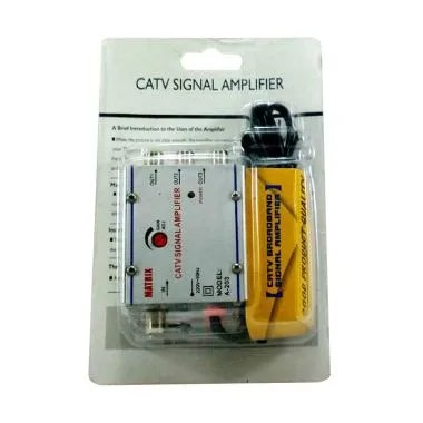 Matrix CATV Signal Amplifier Booster Indoor with 3 Way Spliter [20 db]