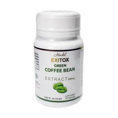 PROMO ( 4 BOTOL ) Pelangsing Herbal Ampuh Exitox Green Coffee Bean
