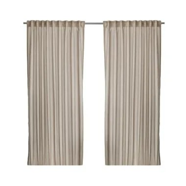 Ikea Vivan Curtain Set Gorden - Krem [145 x 250 cm]