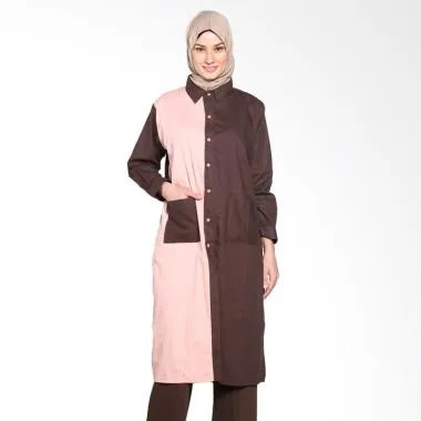 Chick Shop Simple Combined Plain Lo ... Moslem - Dark Brown peach