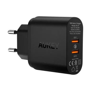 AUKEY PA-T7 USB Wall Charger with Q ...  Technology [2 Port/ 36W]