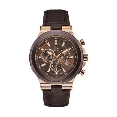 Guess Collection Chronograph Jam Ta ... Y23009G4 - Brown Rosegold