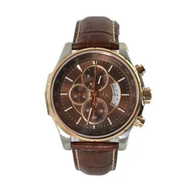 Guess Collection Chronograph Leathe ... 1002G4S - Brown Rose Gold