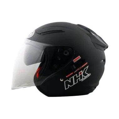 NHK R1 Helm Half Face - Solid Black Doff