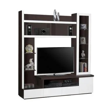 Graver Furniture Lemari TV LVR-2658 Minimalis Lemari TV - Coklat Oak
