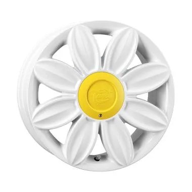 Tansy Daisy R16x7 8H 4x100 or 4x114.3 Velg Mobil - White