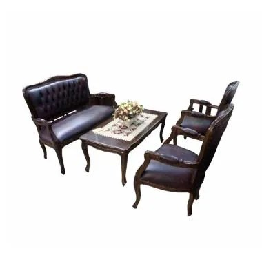 Sen Furniture Louis Set Kursi Tamu - Chocolate [Jabodetabek]
