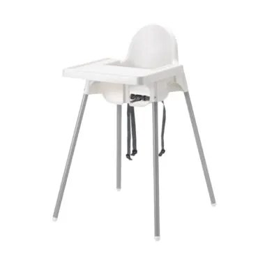 Ikea Antilop Baby Chair High With T ... akan Anak - Putih [1 pcs]