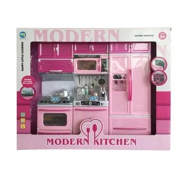 Ocean Toy 818-26 Modern Kitchen Set Mainan Edukasi Anak - Pink