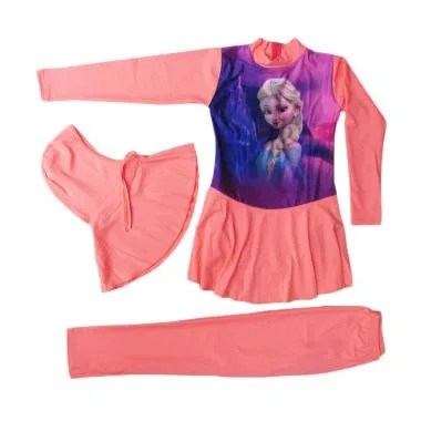 Rainy Collections Karakter Frozen B ... - Pink Peach [5-10 Tahun]