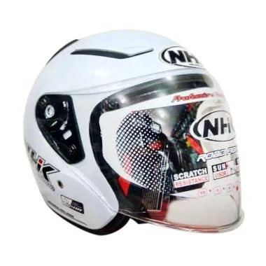 NHK R1 Helm Half Face - Solid White