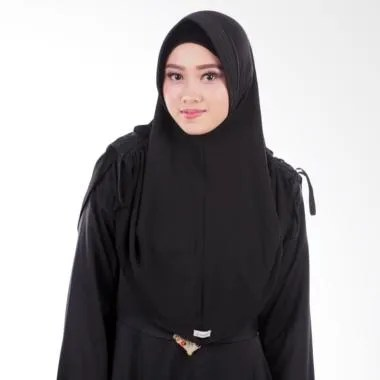 Atteenahijab Amanda Adelina Jilbab Instan - Black