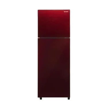SHARP SJ246XGMR Small 2 Door Refrigerator Kulkas 2 Pintu
