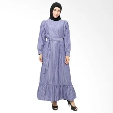 Xq Moslem Wear Melva Denim Dress Muslim - Blue