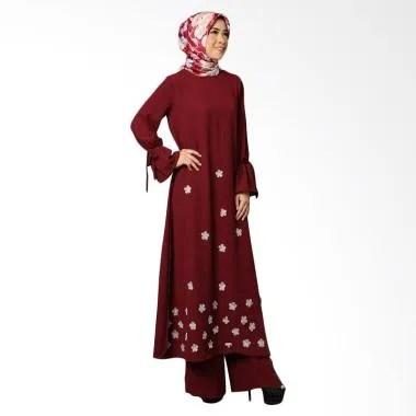 Queenalabels Lessia Kulot Setelan Pakaian Muslim Wanita - Maroon 8707a331fd