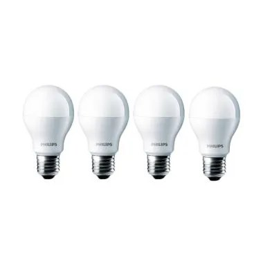 Philips LED Lampu Bohlam - Putih [7watt/ 4pcs]
