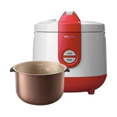 PHILIPS Rice Cooker 2 Liter HD3119 - Merah