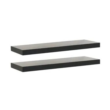 DEcTionS Set Floating Shelves Rak Dinding - Hitam [60 x 20 cm/ 2 pcs]