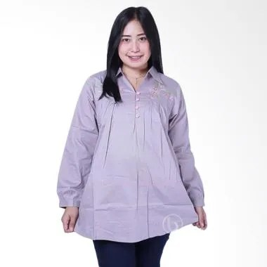 Mama Hamil BLJ 426 Muslim Kelly Baju Atasan Ibu Hamil - Abu
