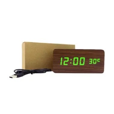 BestChoice Wooden Digital Clock LED ... yu Digital Besar - Coklat