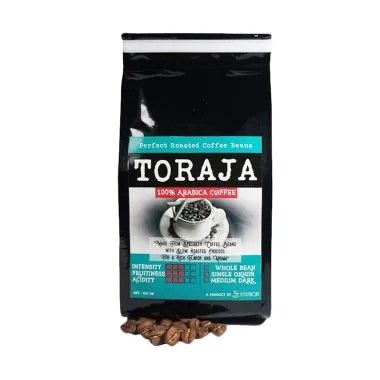 Sentra Kopi Toraja Arabica Whole Bean Coffee Biji Kopi Arabika [200 g]