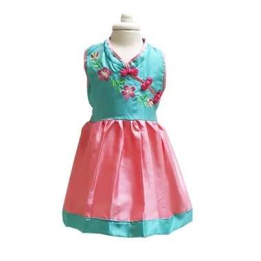 Chloebaby Shop F1074 Choengsam Dress Anak Perempuan