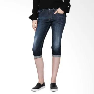 Miyoshi Josei MJ17PA046BK Cropped Jeans Wanita - Dark Indigo