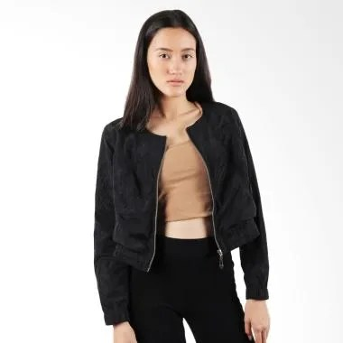 Qyrana Bomber Women Jacket - Black