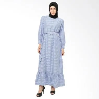 Xq Moslem Wear Melva Dress Muslim - Sky Blue